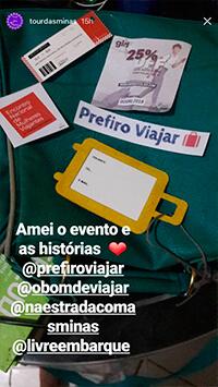 Stories das participantes do evento